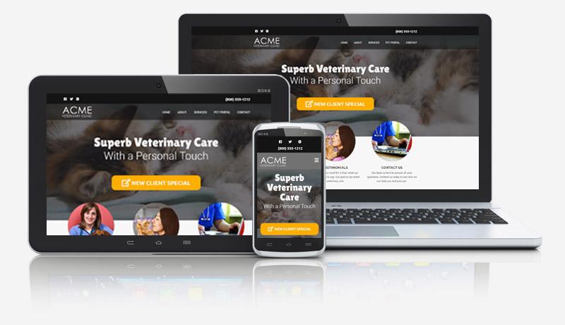 Falcon Veterinarian Website Collage