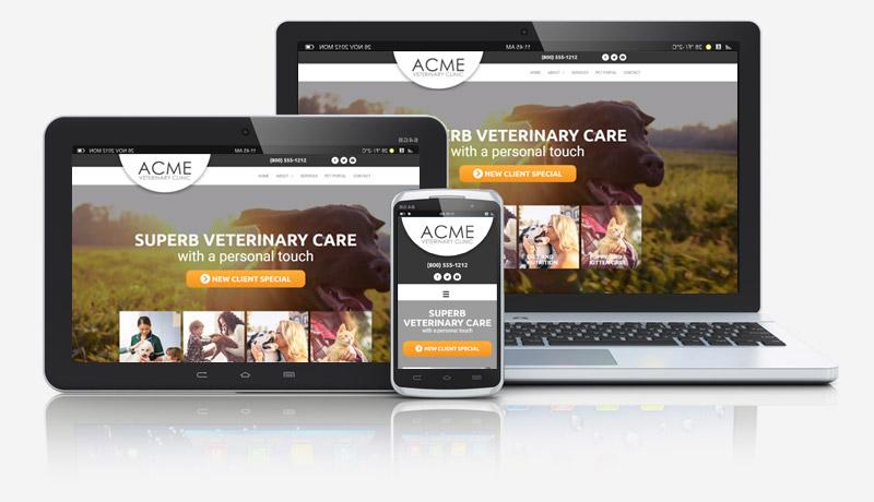 Danni Integrative Veterinarian Website Collage