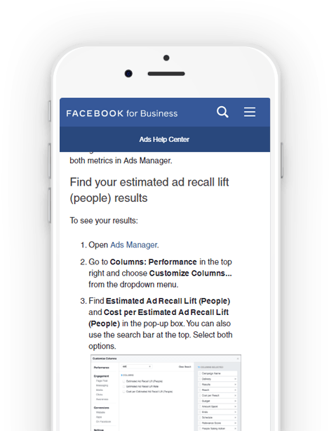 Facebook For Business Ad Recall