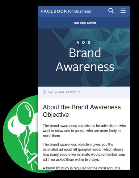 Facebook For Business Brand Awareness