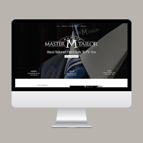 Website Design for Rudolf Master Tailor