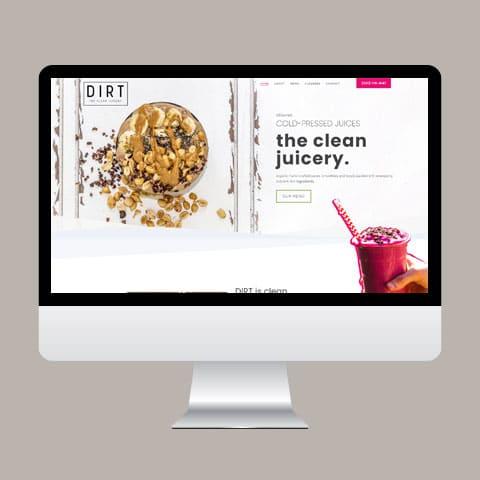Leadbumps Web Design for DIRT Juicery